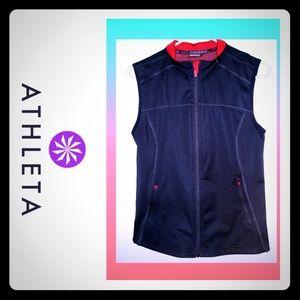 Athleta Running Vest reflective design sz medium